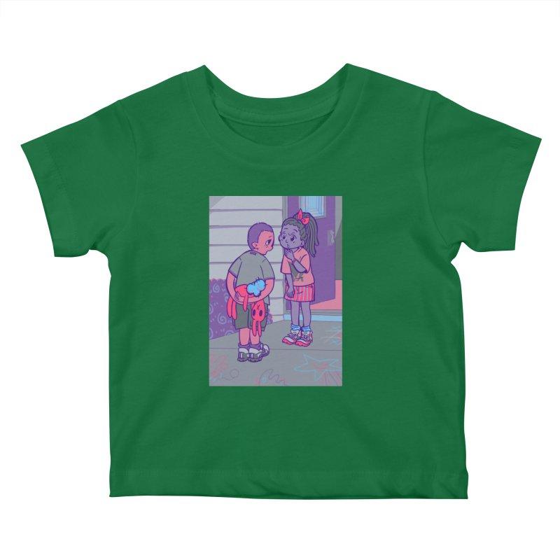 Honesty Card Art Kids Baby T-Shirt by The Spiffai Shop