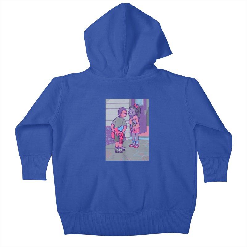 Honesty Card Art Kids Baby Zip-Up Hoody by The Spiffai Shop