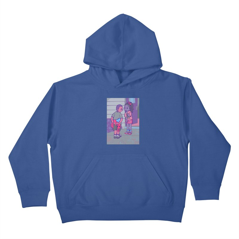 Honesty Card Art Kids Pullover Hoody by The Spiffai Shop