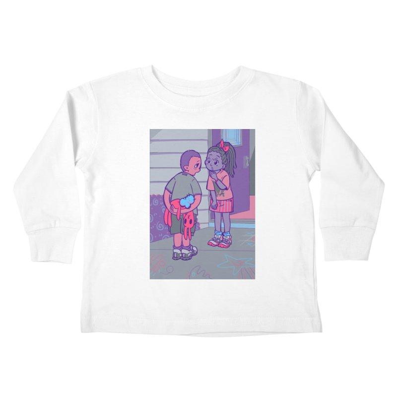 Honesty Card Art Kids Toddler Longsleeve T-Shirt by The Spiffai Shop