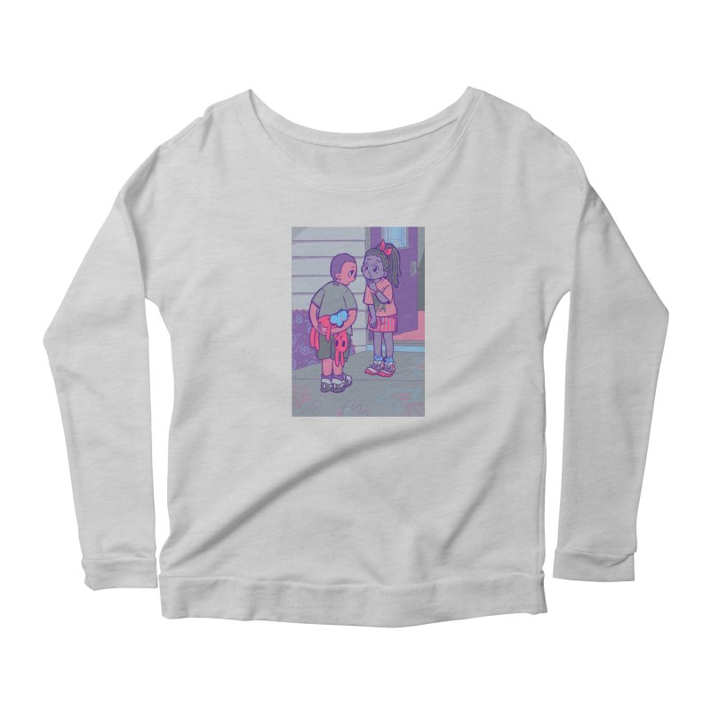 Honesty Card Art Women's Scoop Neck Longsleeve T-Shirt by The Spiffai Shop