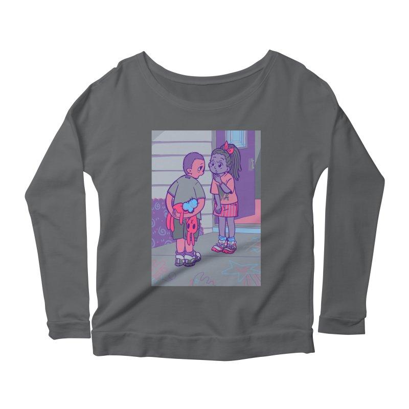 Honesty Card Art Women's Scoop Neck Longsleeve T-Shirt by The Spiffai Shop