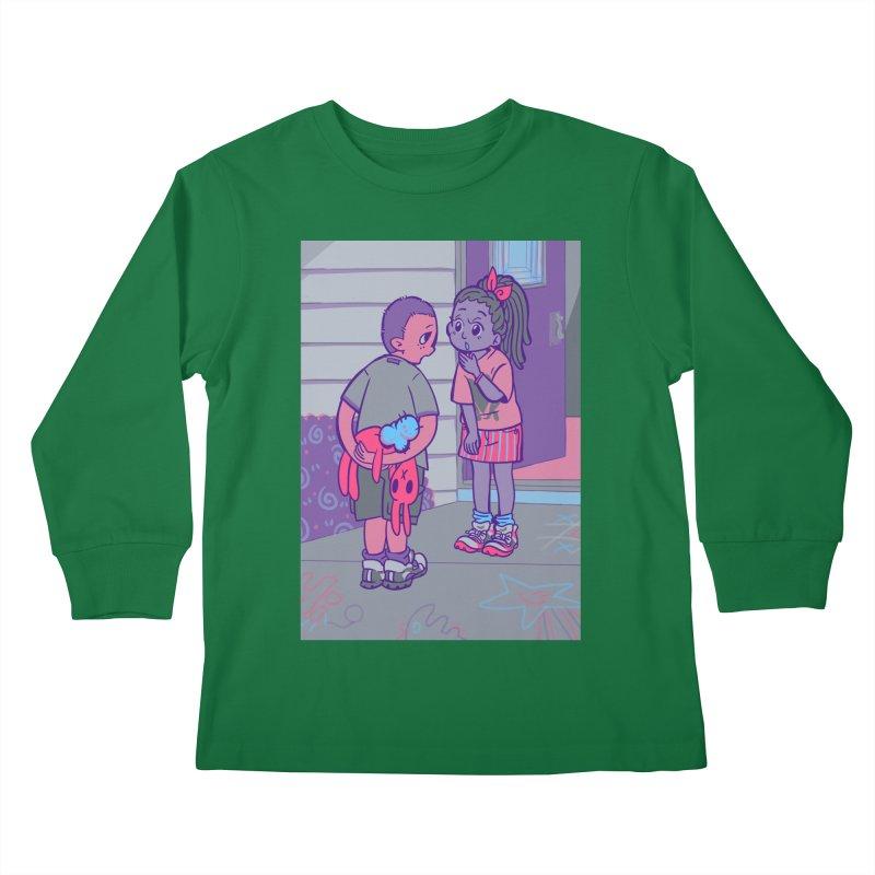 Honesty Card Art Kids Longsleeve T-Shirt by The Spiffai Shop