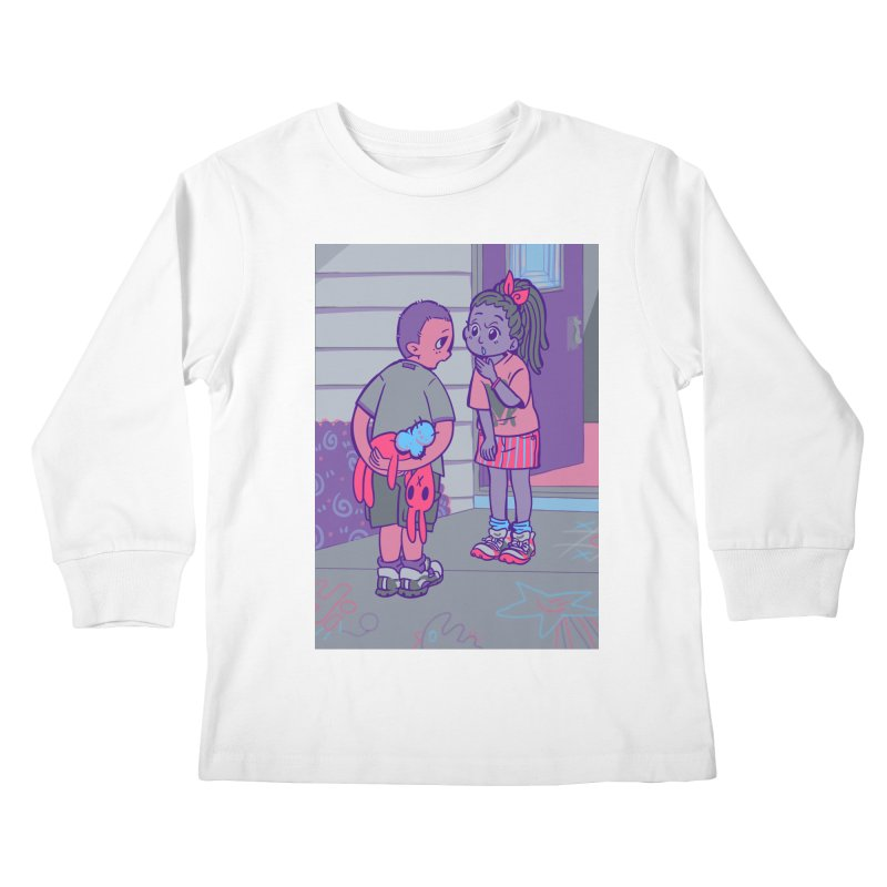 Honesty Card Art Kids Longsleeve T-Shirt by The Spiffai Shop