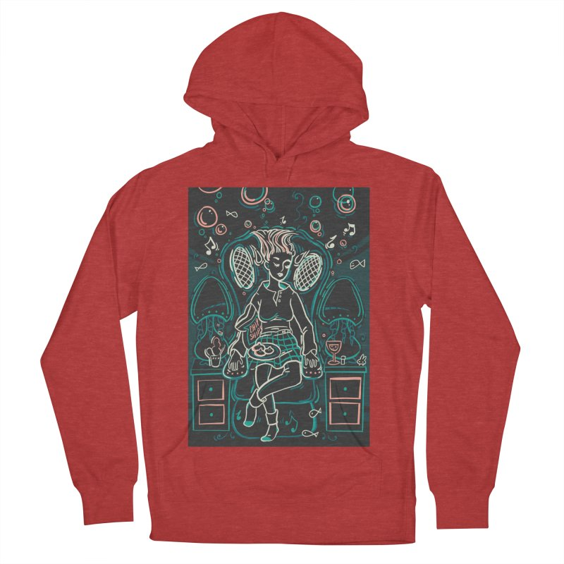 Lazy Man Recliner Card Art Women's French Terry Pullover Hoody by The Spiffai Shop