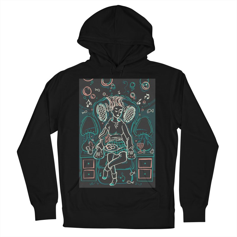 Lazy Man Recliner Card Art Men's French Terry Pullover Hoody by The Spiffai Shop