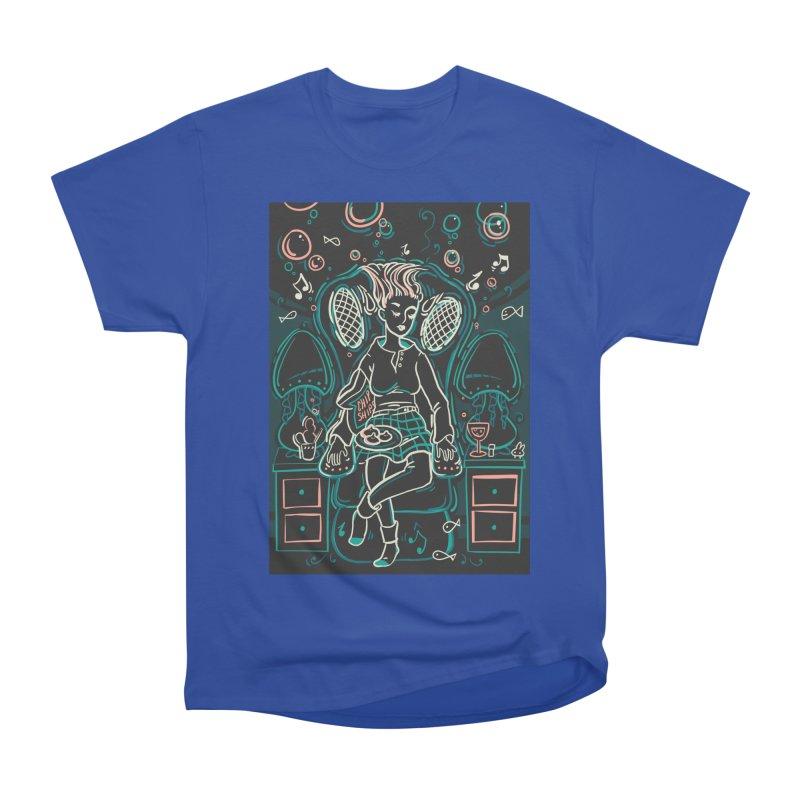 Lazy Man Recliner Card Art Women's Heavyweight Unisex T-Shirt by The Spiffai Shop