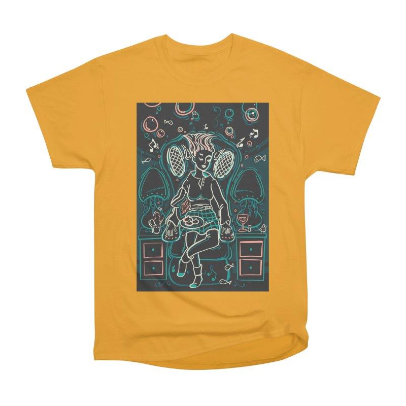 Lazy Man Recliner Card Art Men's Heavyweight T-Shirt by The Spiffai Shop