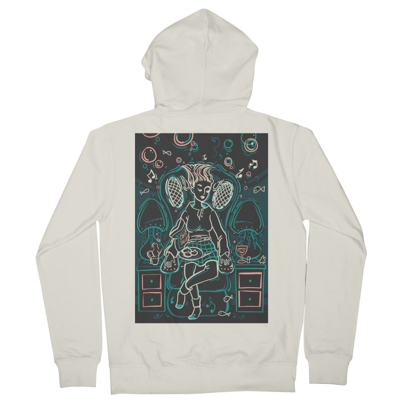 Lazy Man Recliner Card Art Men's French Terry Zip-Up Hoody by The Spiffai Shop