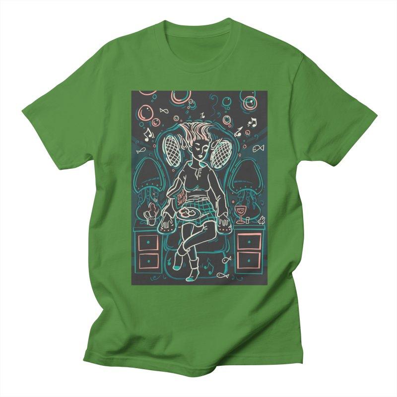 Lazy Man Recliner Card Art Men's Regular T-Shirt by The Spiffai Shop