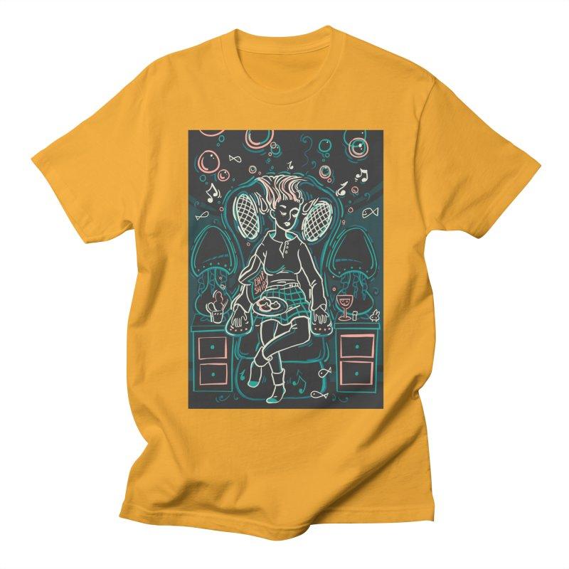 Lazy Man Recliner Card Art Men's T-Shirt by The Spiffai Shop