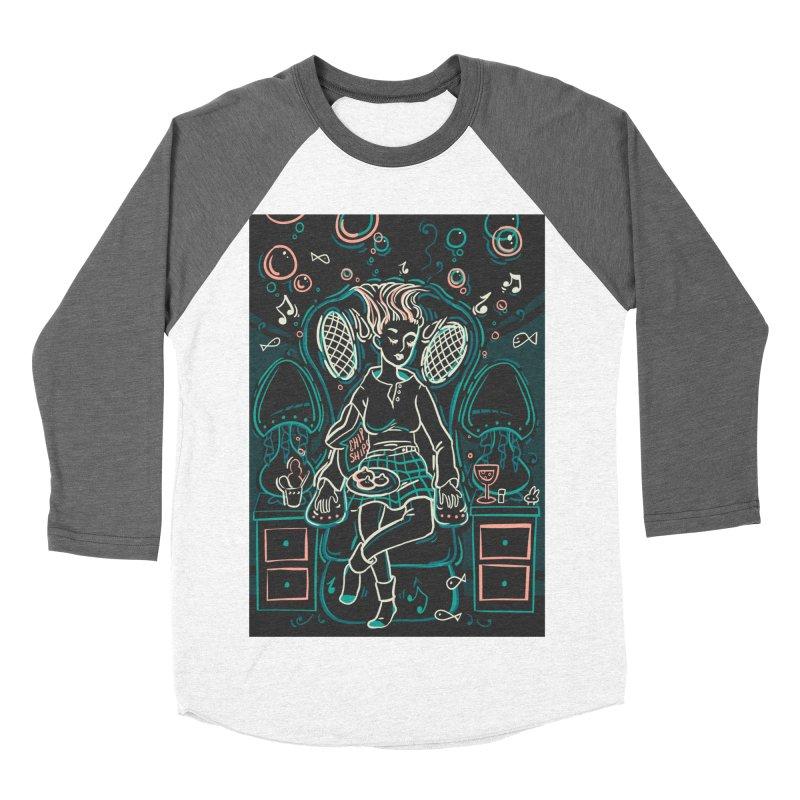 Lazy Man Recliner Card Art Women's Baseball Triblend Longsleeve T-Shirt by The Spiffai Shop