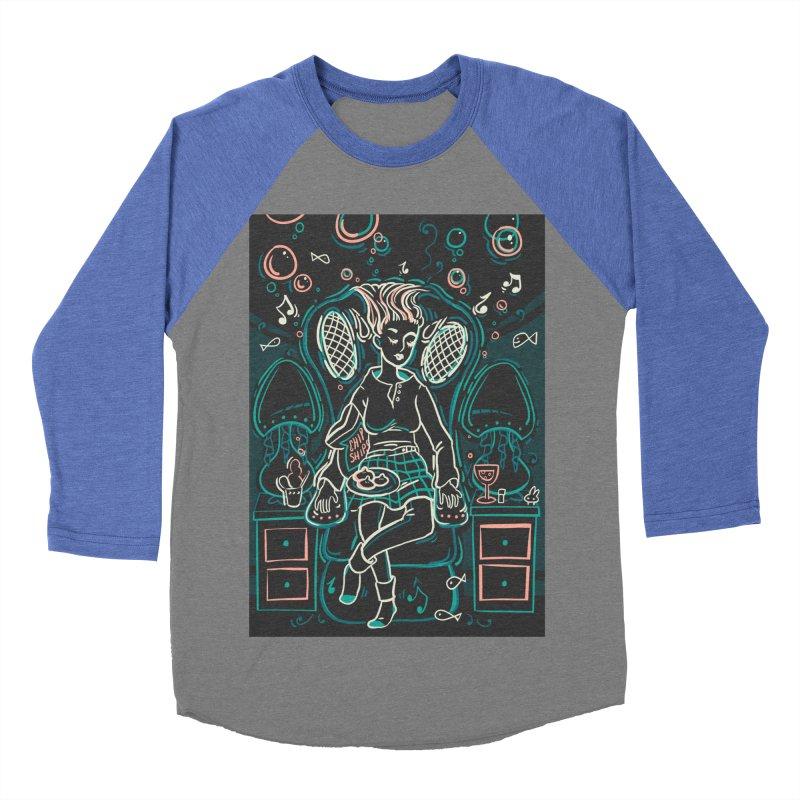 Lazy Man Recliner Card Art Men's Baseball Triblend T-Shirt by The Spiffai Shop