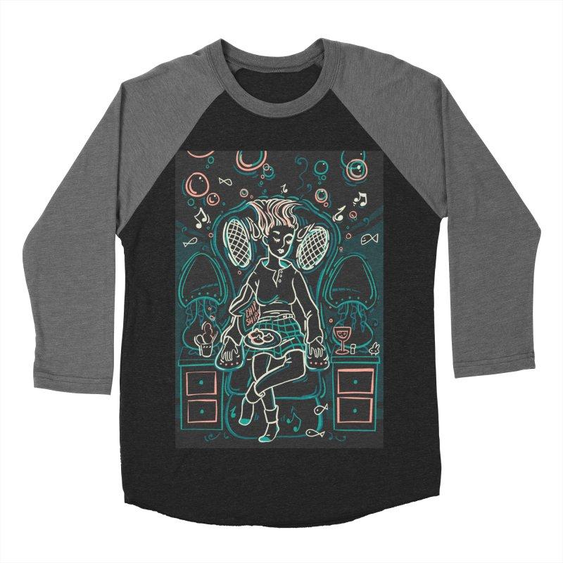 Lazy Man Recliner Card Art Men's Baseball Triblend Longsleeve T-Shirt by The Spiffai Shop