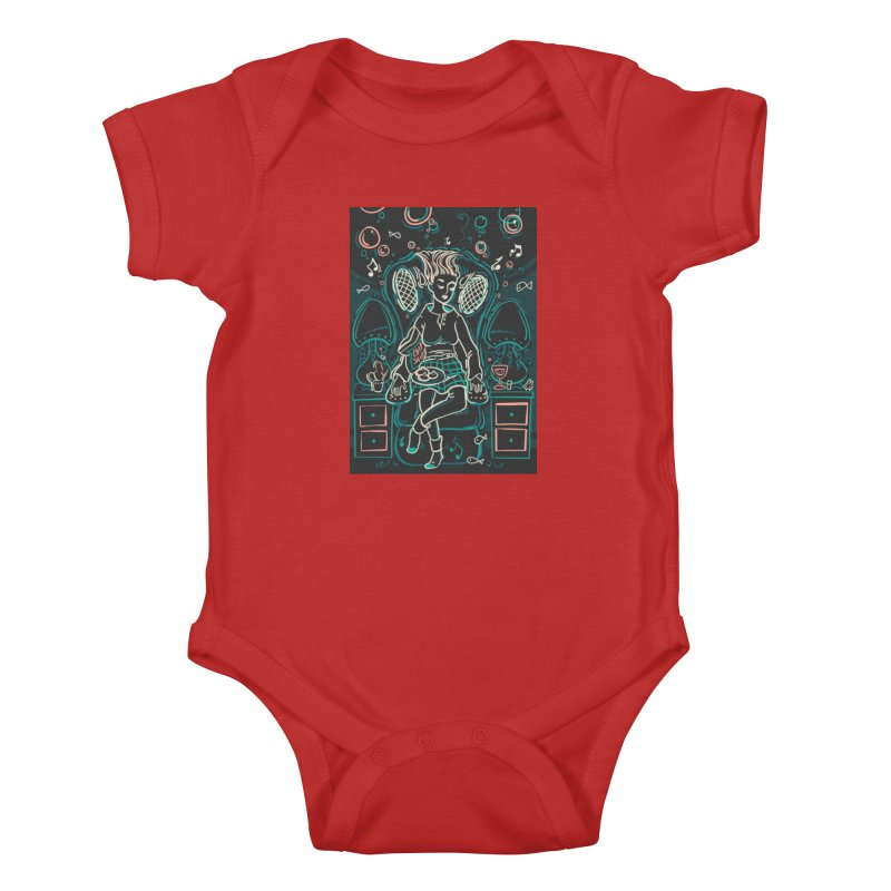 Lazy Man Recliner Card Art Kids Baby Bodysuit by The Spiffai Shop