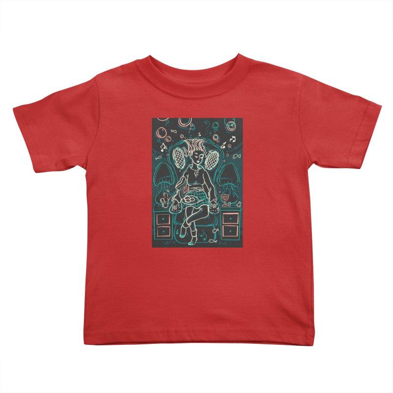 Lazy Man Recliner Card Art Kids Toddler T-Shirt by The Spiffai Shop