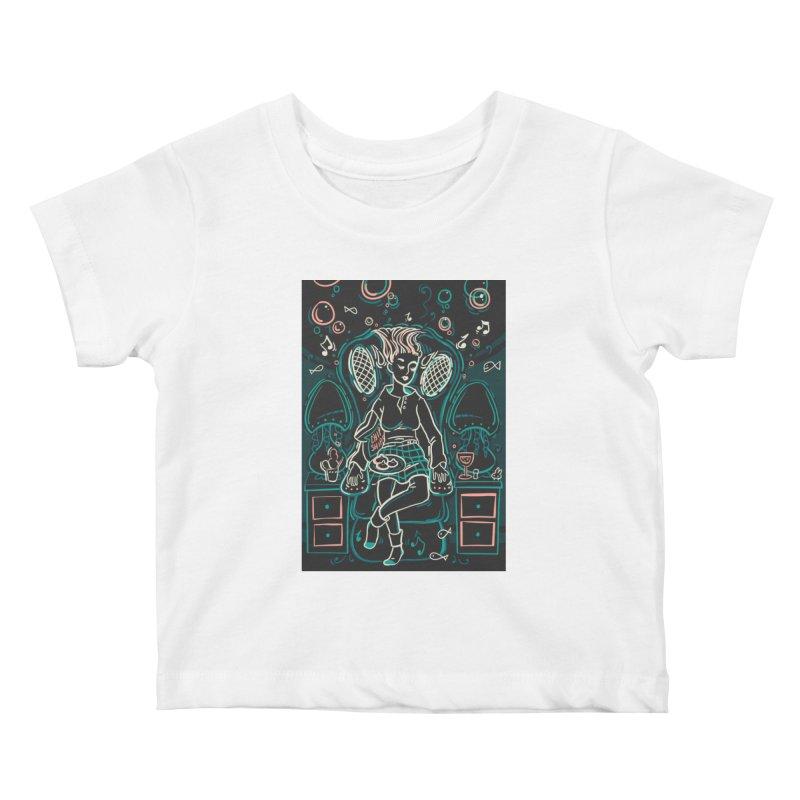 Lazy Man Recliner Card Art Kids Baby T-Shirt by The Spiffai Shop