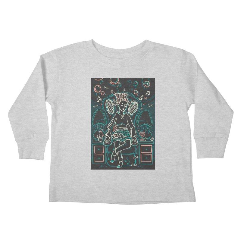 Lazy Man Recliner Card Art Kids Toddler Longsleeve T-Shirt by The Spiffai Shop