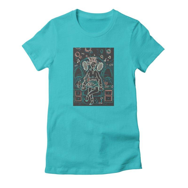 Lazy Man Recliner Card Art Women's T-Shirt by The Spiffai Shop