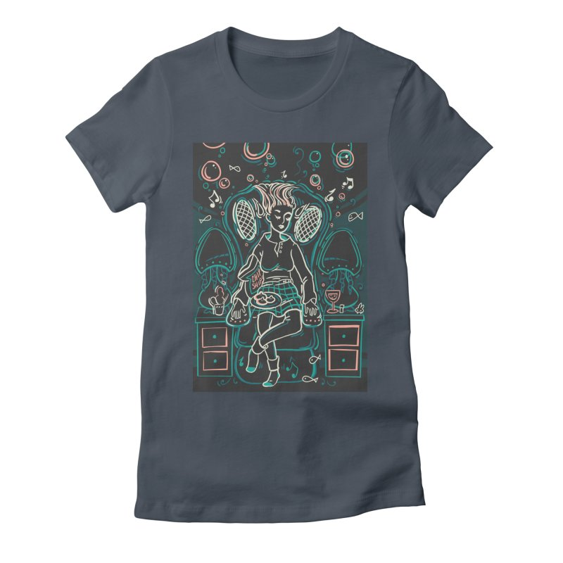 Lazy Man Recliner Card Art Women's T-Shirt by The Spiffai Shop