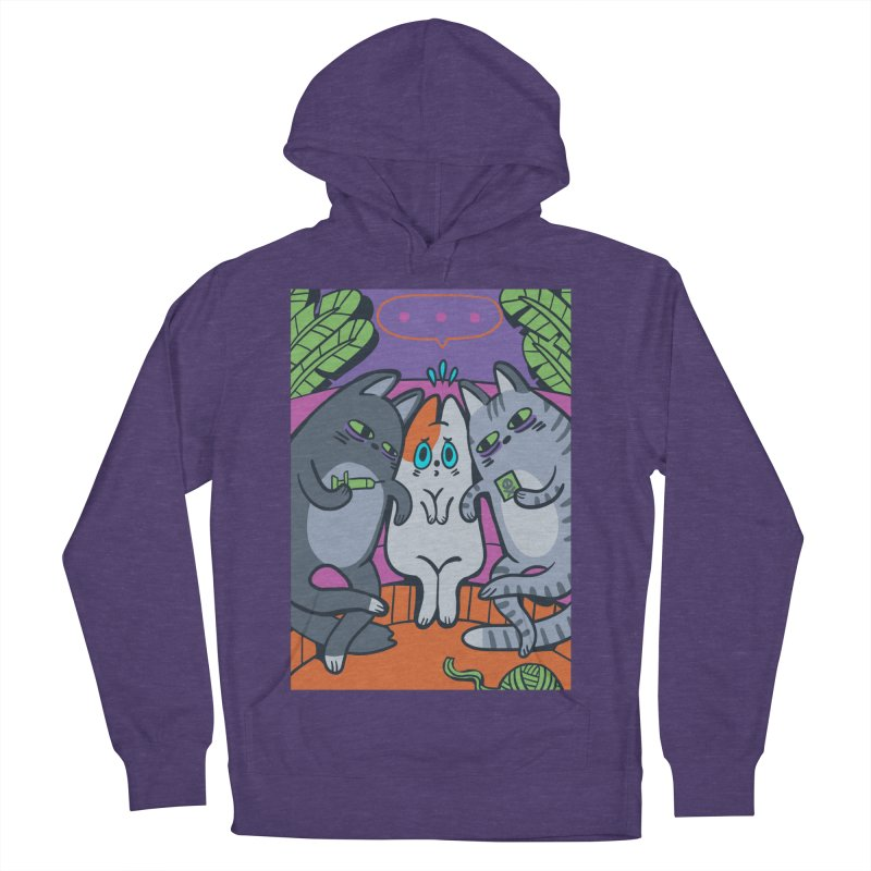 Peer Pressure Card Art Men's French Terry Pullover Hoody by The Spiffai Shop