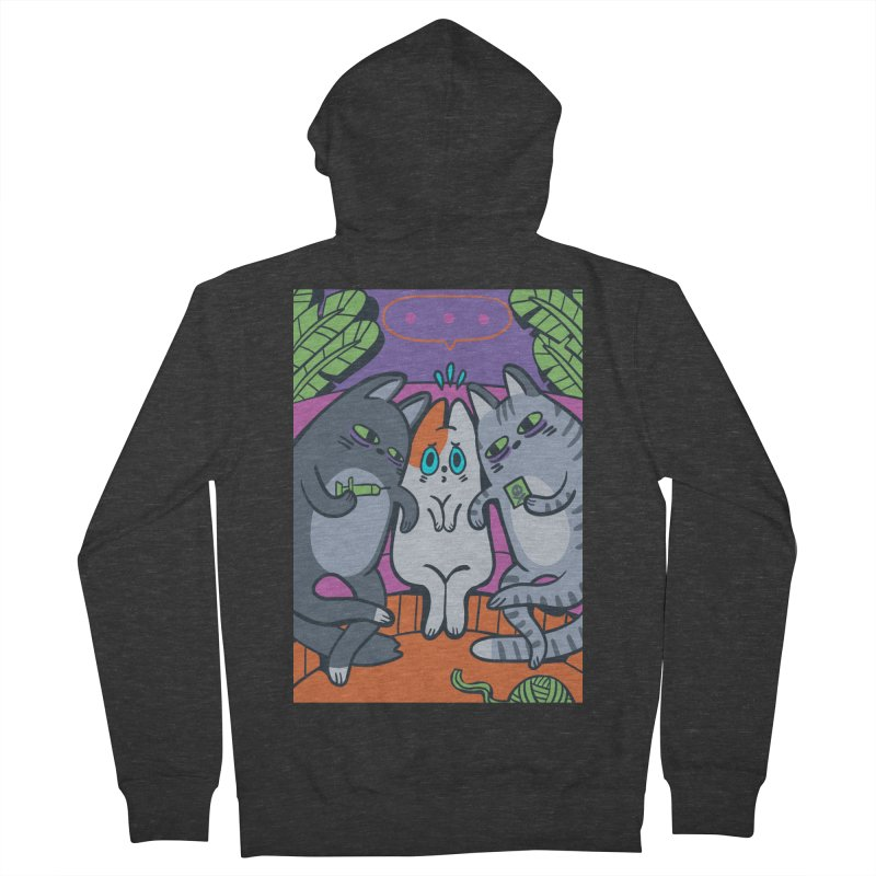 Peer Pressure Card Art Women's French Terry Zip-Up Hoody by The Spiffai Shop