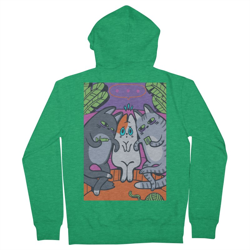 Peer Pressure Card Art Men's French Terry Zip-Up Hoody by The Spiffai Shop