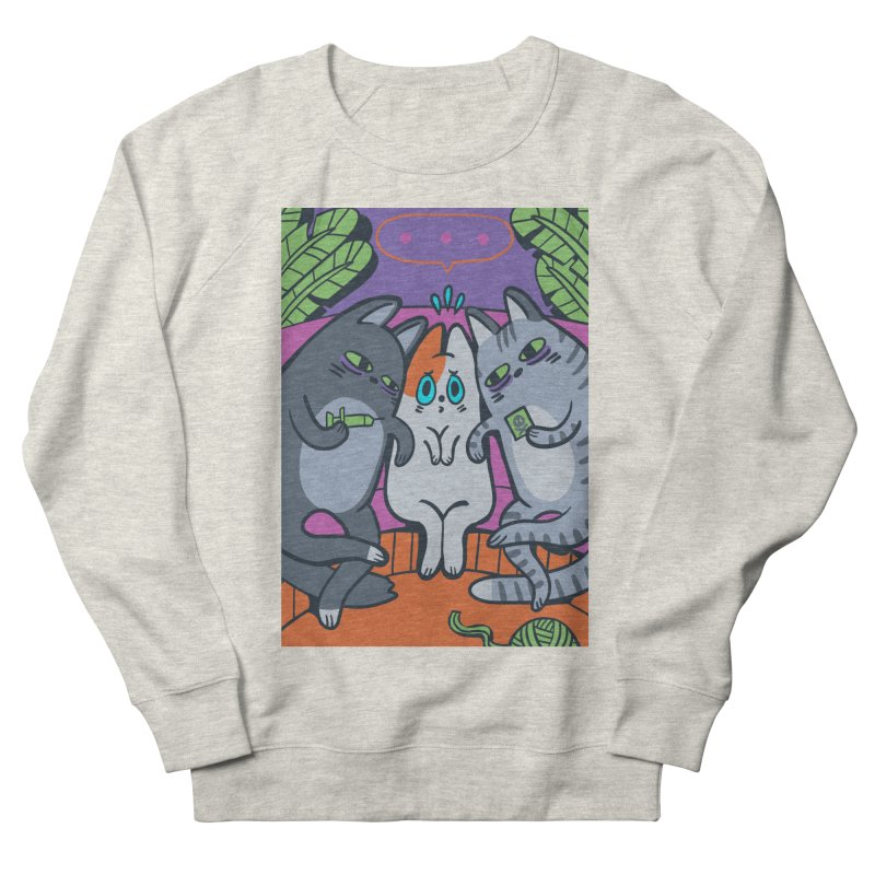 Peer Pressure Card Art Women's French Terry Sweatshirt by The Spiffai Shop