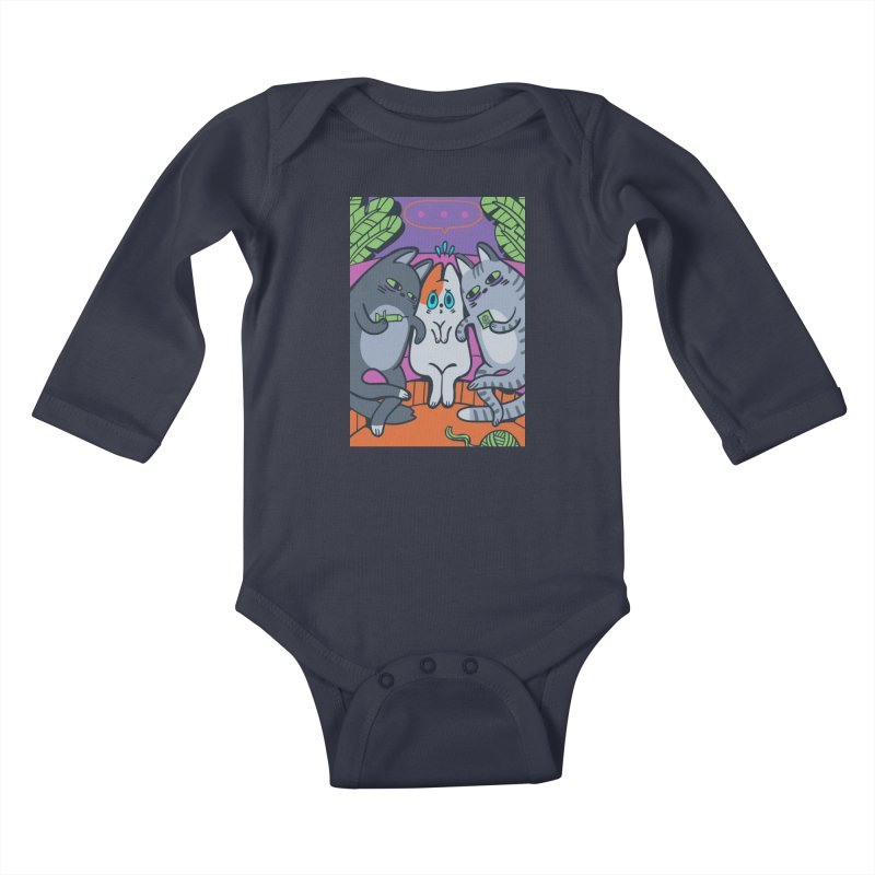Peer Pressure Card Art Kids Baby Longsleeve Bodysuit by The Spiffai Shop