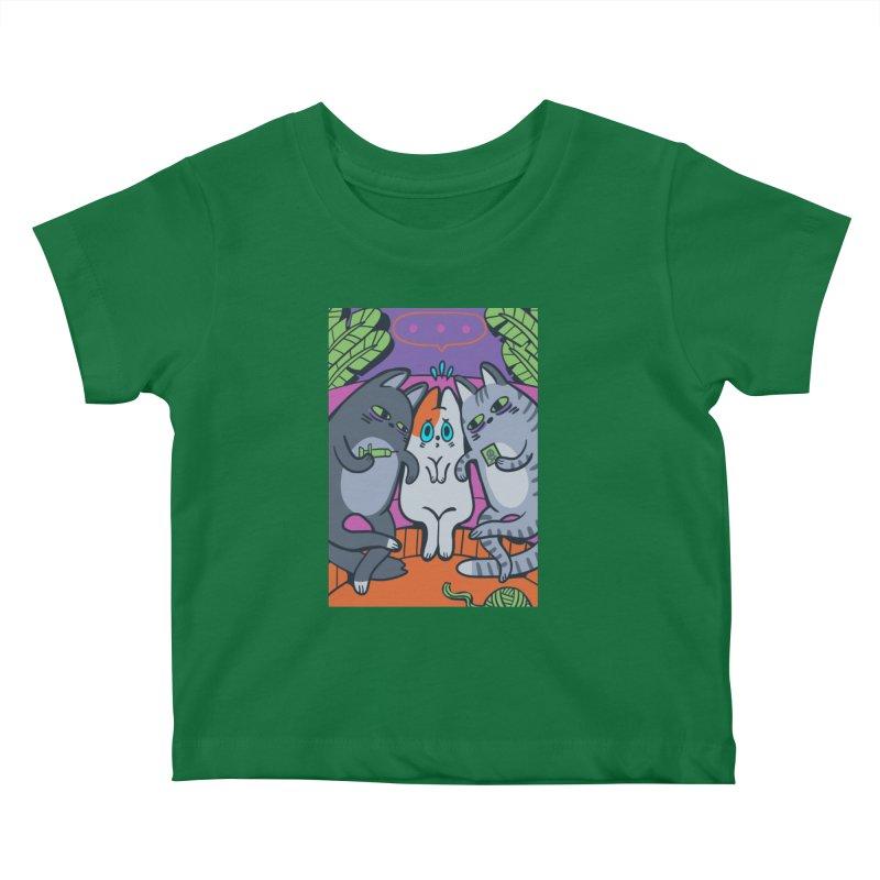 Peer Pressure Card Art Kids Baby T-Shirt by The Spiffai Shop