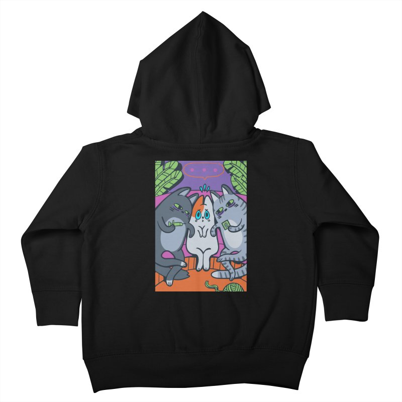 Peer Pressure Card Art Kids Toddler Zip-Up Hoody by The Spiffai Shop