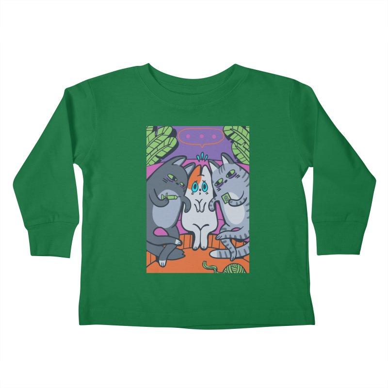 Peer Pressure Card Art Kids Toddler Longsleeve T-Shirt by The Spiffai Shop