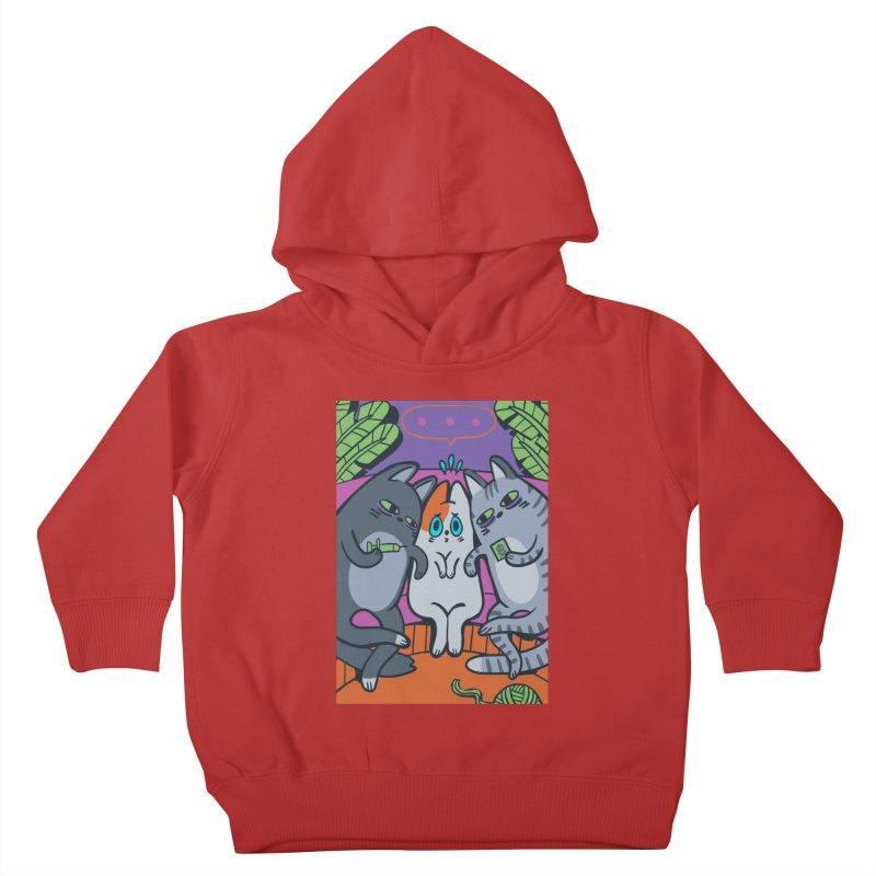 Peer Pressure Card Art Kids Toddler Pullover Hoody by The Spiffai Shop