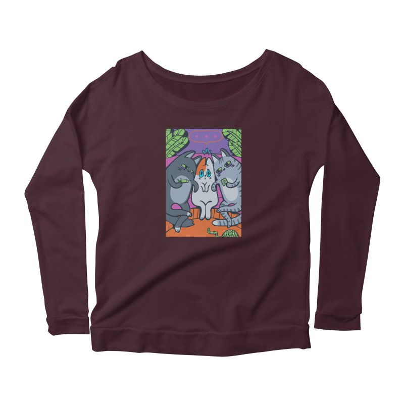 Peer Pressure Card Art Women's Scoop Neck Longsleeve T-Shirt by The Spiffai Shop