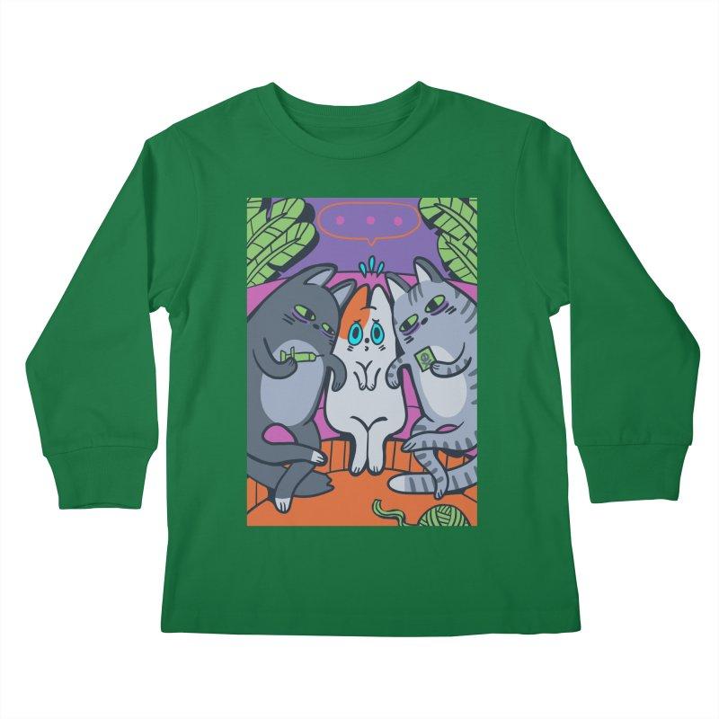 Peer Pressure Card Art Kids Longsleeve T-Shirt by The Spiffai Shop