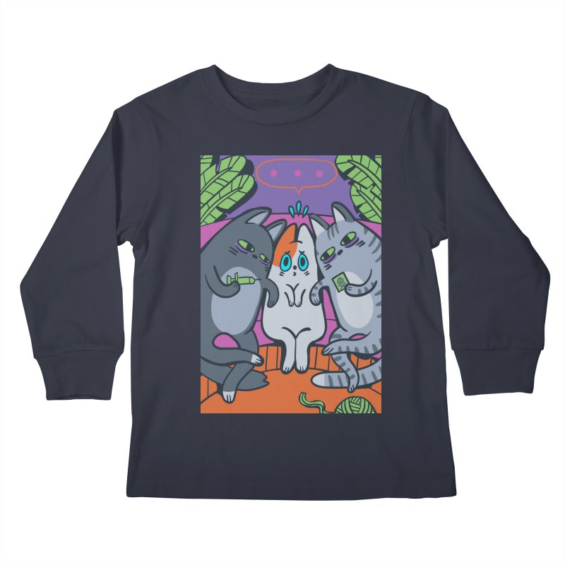 Peer Pressure Card Art Kids Longsleeve T-Shirt by The Spiffai Shop