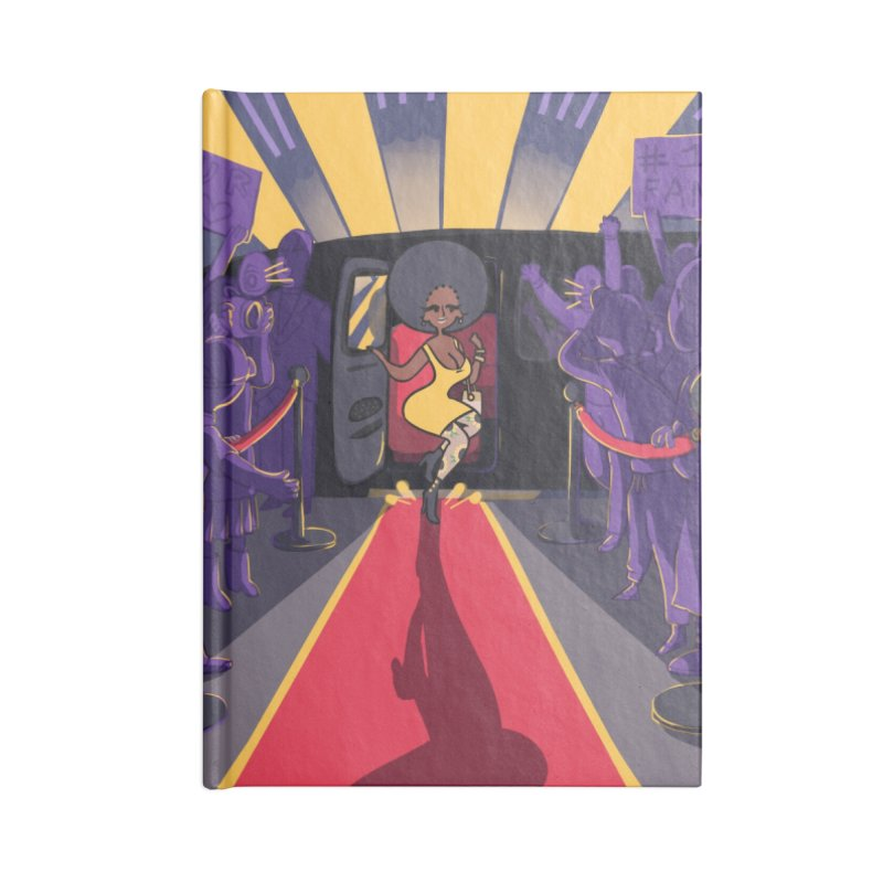 Red Carpet Gala Card Art Accessories Lined Journal Notebook by The Spiffai Shop