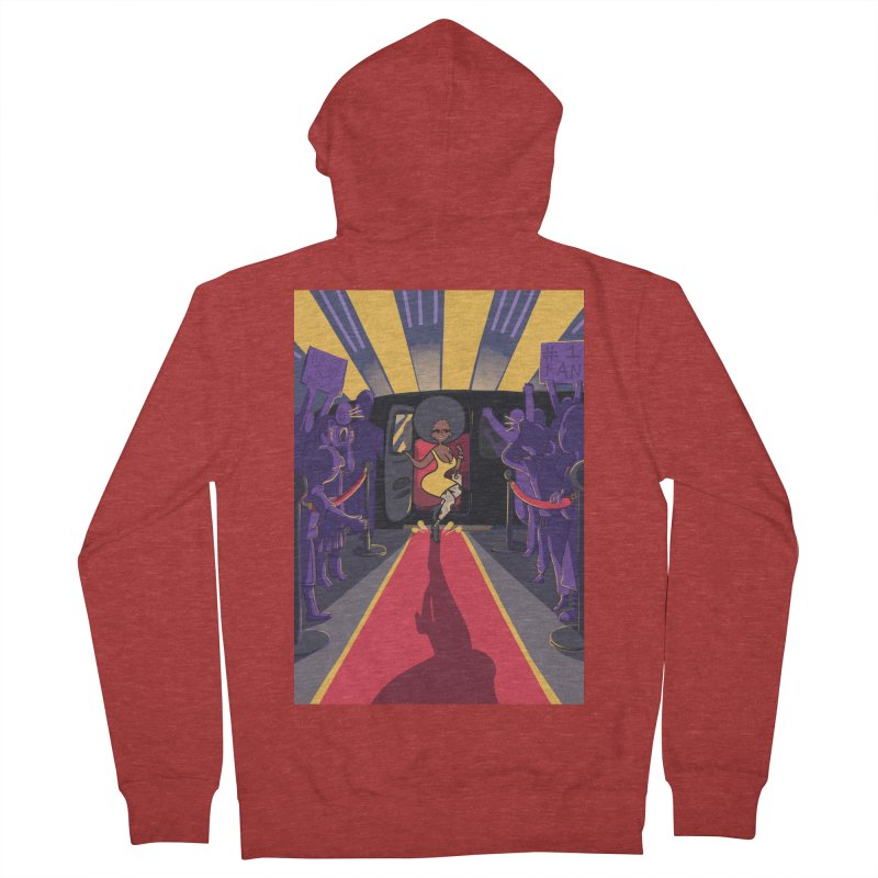Red Carpet Gala Card Art Women's French Terry Zip-Up Hoody by The Spiffai Shop