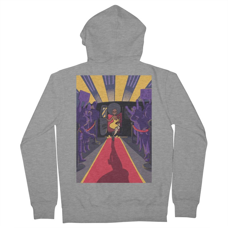 Red Carpet Gala Card Art Men's French Terry Zip-Up Hoody by The Spiffai Shop