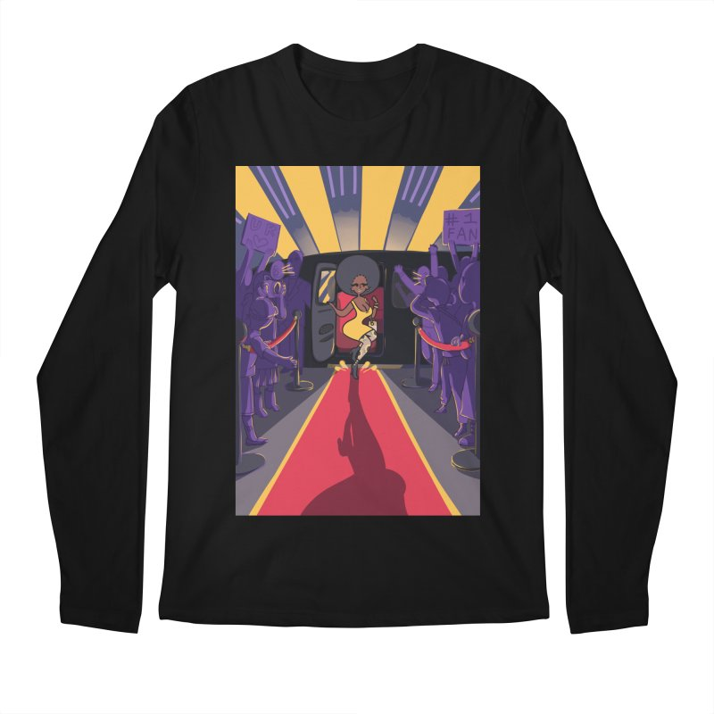 Red Carpet Gala Card Art Men's Regular Longsleeve T-Shirt by The Spiffai Shop