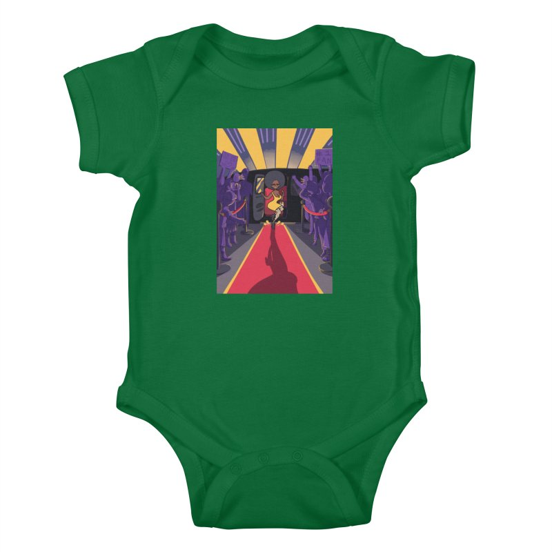 Red Carpet Gala Card Art Kids Baby Bodysuit by The Spiffai Shop