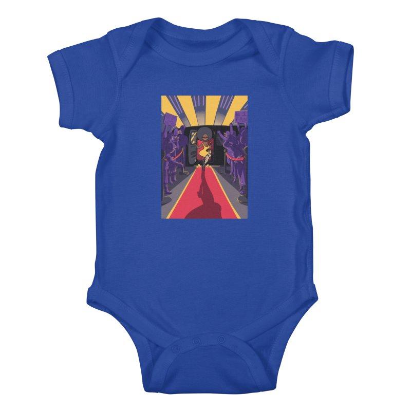 Red Carpet Gala Card Art Kids Baby Bodysuit by The Spiffai Shop