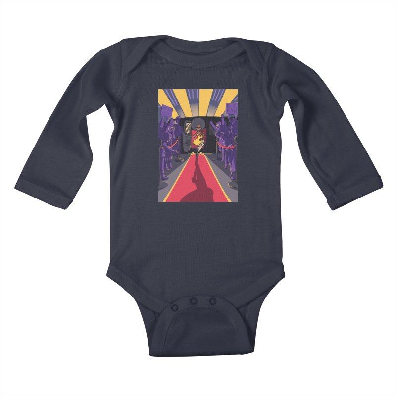 Red Carpet Gala Card Art Kids Baby Longsleeve Bodysuit by The Spiffai Shop
