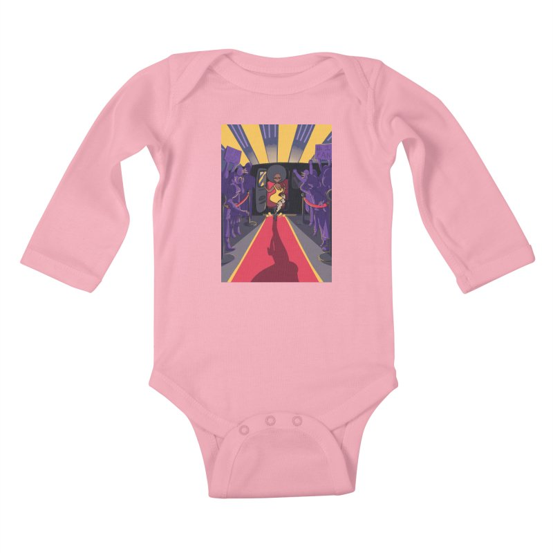 Red Carpet Gala Card Art Kids Baby Longsleeve Bodysuit by The Spiffai Shop