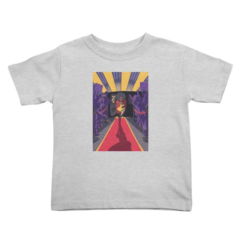 Red Carpet Gala Card Art Kids Toddler T-Shirt by The Spiffai Shop