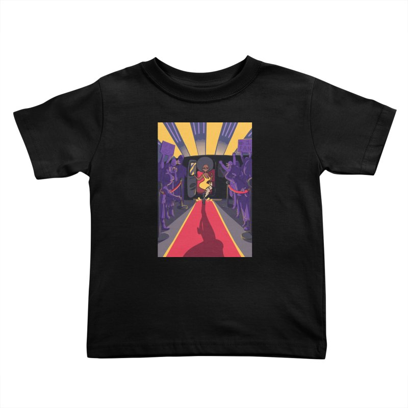Red Carpet Gala Card Art Kids Toddler T-Shirt by The Spiffai Shop