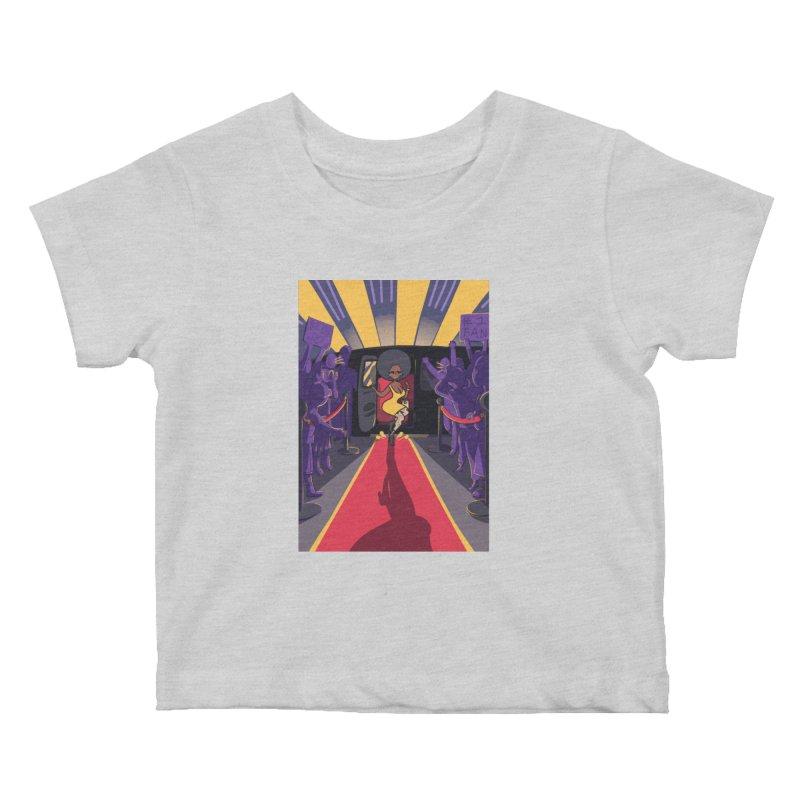 Red Carpet Gala Card Art Kids Baby T-Shirt by The Spiffai Shop