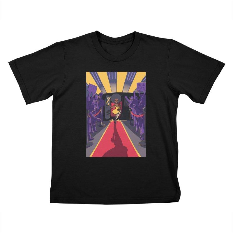 Red Carpet Gala Card Art Kids T-Shirt by The Spiffai Shop