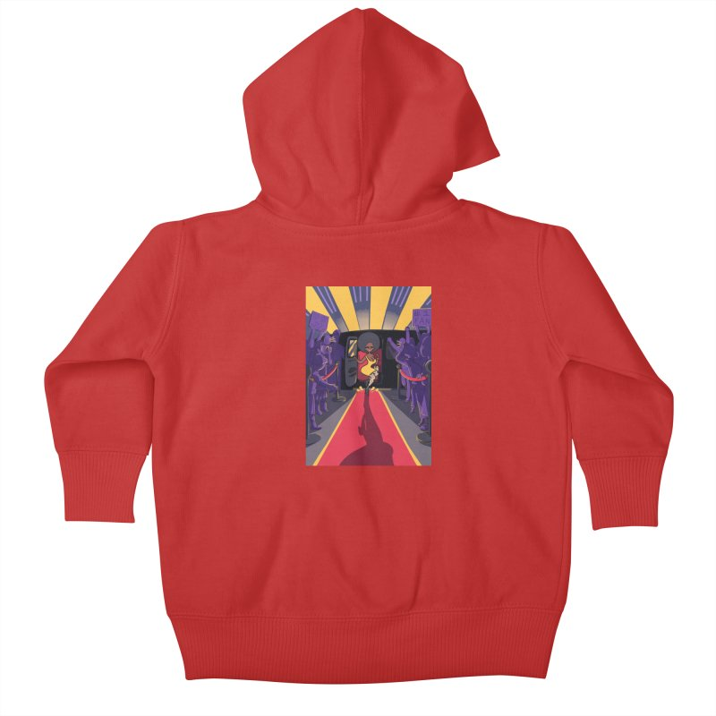 Red Carpet Gala Card Art Kids Baby Zip-Up Hoody by The Spiffai Shop