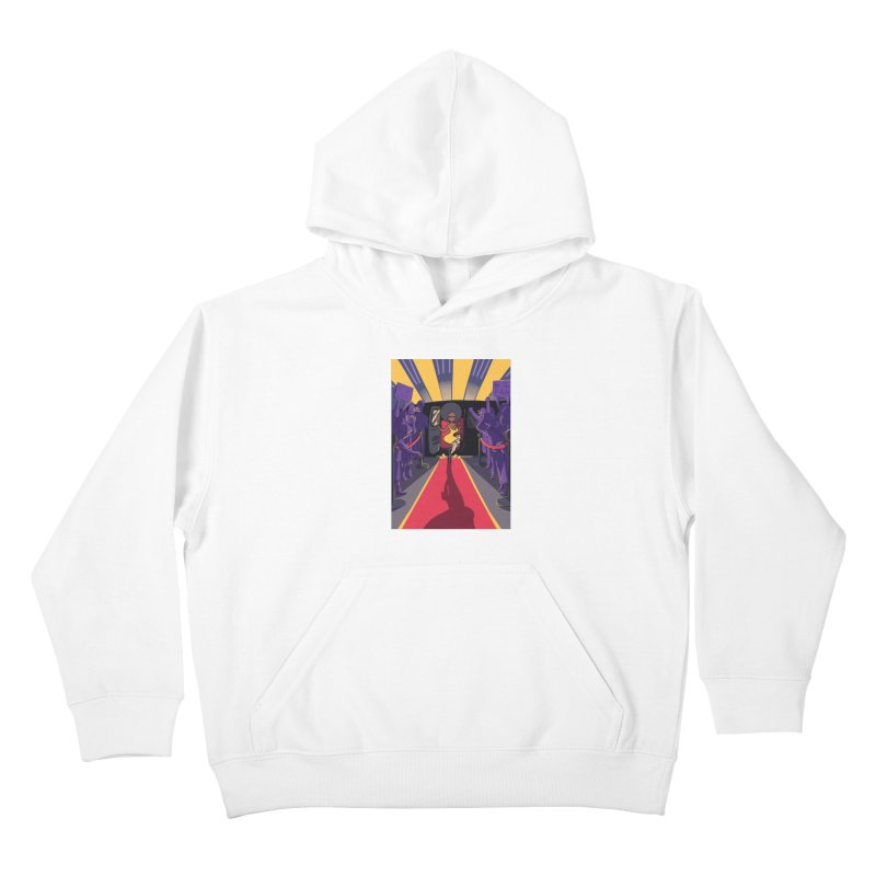Red Carpet Gala Card Art Kids Pullover Hoody by The Spiffai Shop